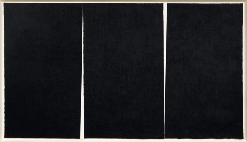 RICHARD SERRA Double Rift #4, 2011 Paintstick on handmade paper 114 3/8 x 198 7/8 x 3 3/4 inches framed