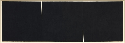 Richard Serra, Double Rift #8, 2013 Paintstick on handmade Paper, 84.25 x 240.75 inches Courtesy Gagosian Gallery